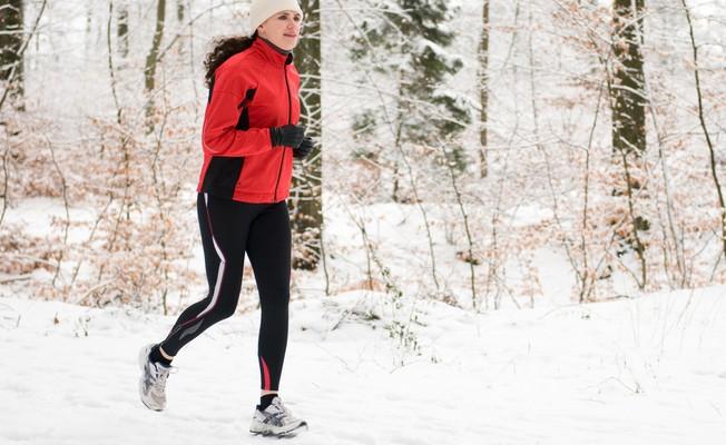 Бег в холодную зимнюю погоду